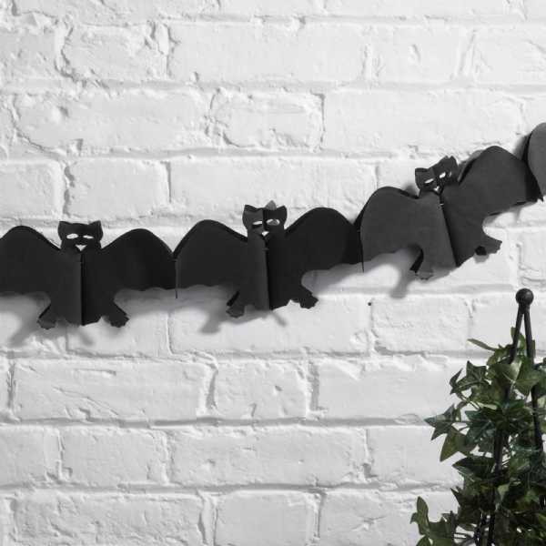 Halloween Tissue Paper Black Bat Garland